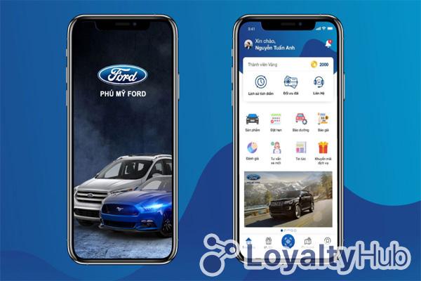 thiết kế app mobile cho ford